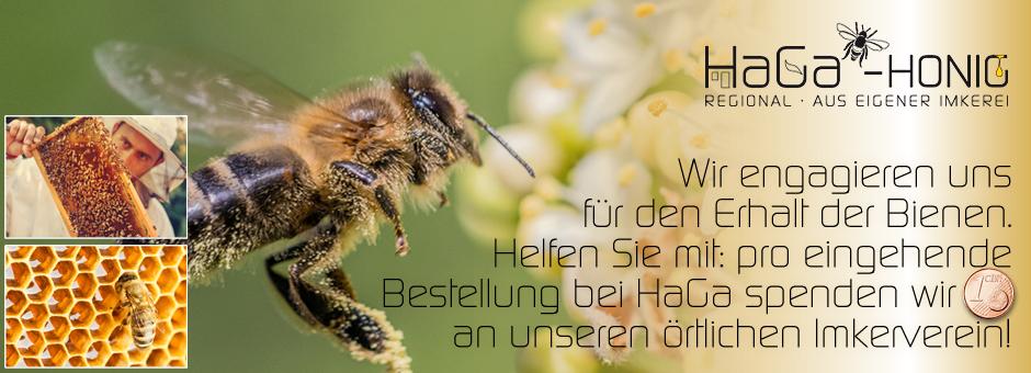 Wir engagieren uns für den Erhalt der Bienen. Helfen Sie mit: pro eingehende Bes