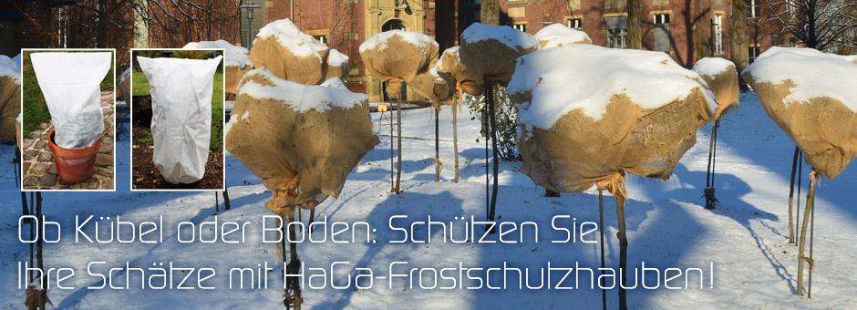 Ob Kübel oder Boden: Schützen Sie Ihre Schätze mit HaGa-Frostschutzhauben!