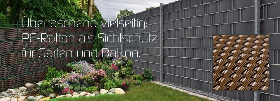 Überraschend vielseitig: PE-Rattan als Sichtschutz für Garten und Balkon.