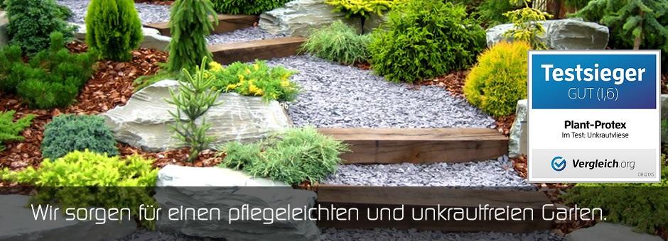 Wir sorgen für einen pflegeleichten und unkrautfreien Garten.