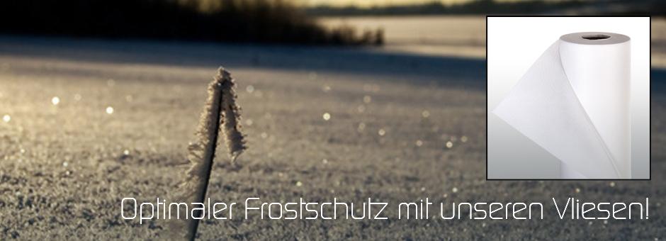 Optimaler Frostschutz mit unseren Vliesen!
