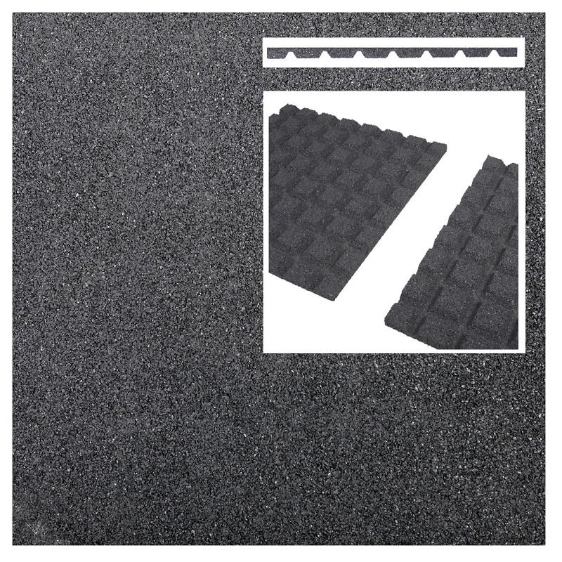 1 Stk Fallschutzmatte 0,5m x 0,5m Fallschutz für Balkons in anthrazit
