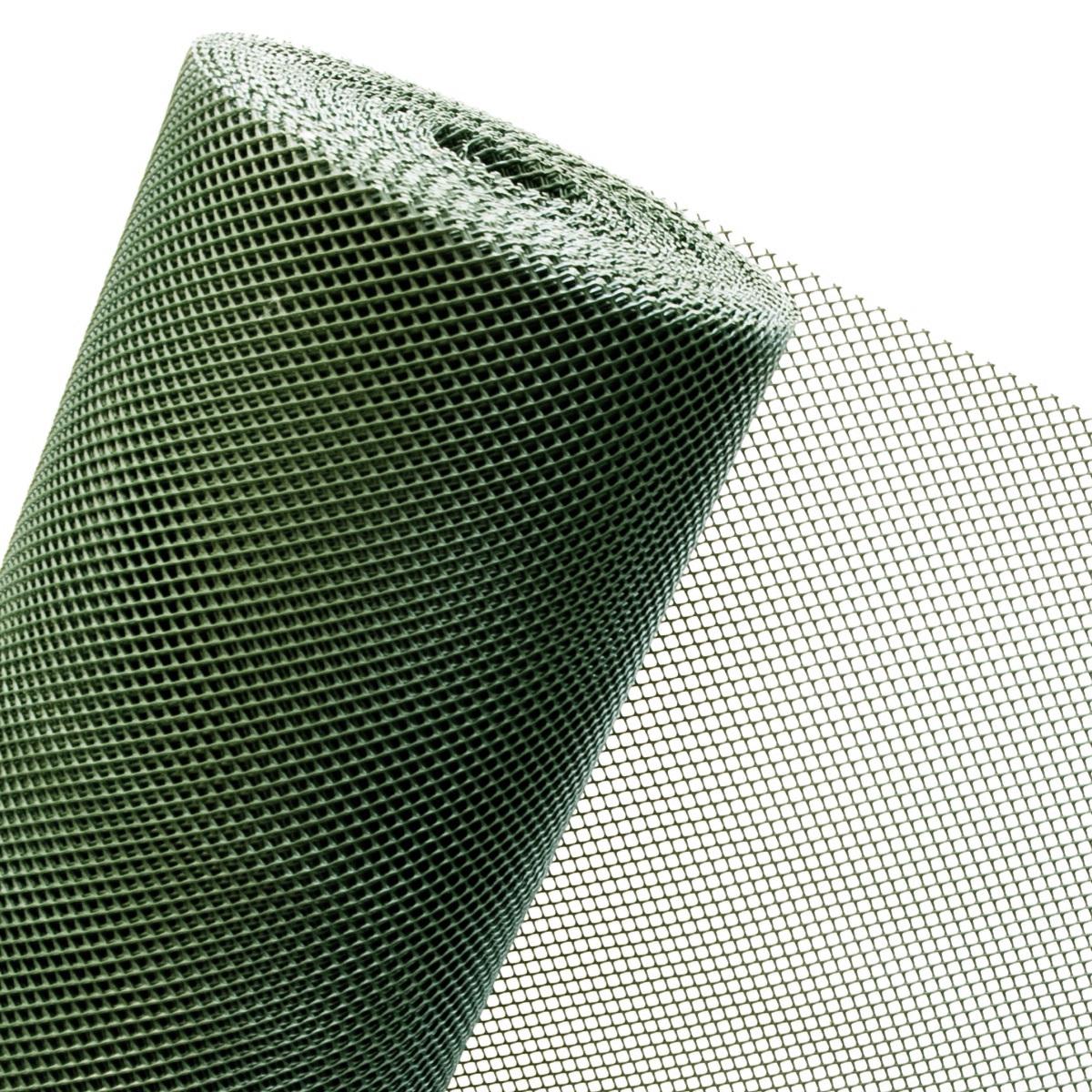 KUNSTSTOFFZAUN in 1,20m Höhe Masche 5mm (Meterware) Lärm dunkelgrün