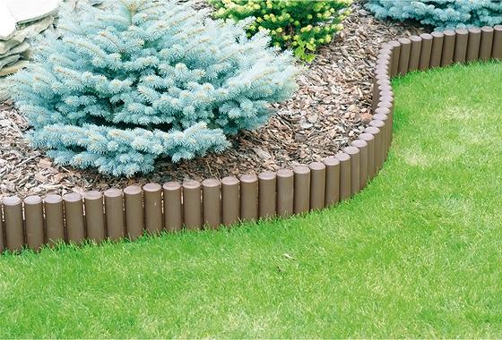 Lieblings 2,7m PALISADE Beetumrandung grau Einfassung Gartenweg Rasenkante @KP_86