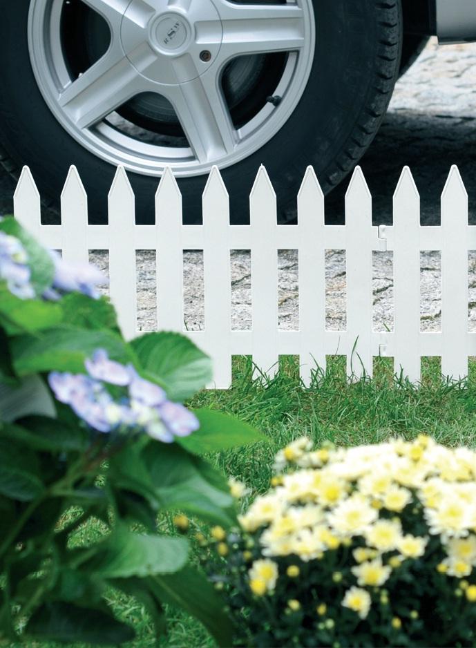 3 2m zierzaun 27cm hoch terrabraun zaun gartenzaun friesenzaun. Black Bedroom Furniture Sets. Home Design Ideas