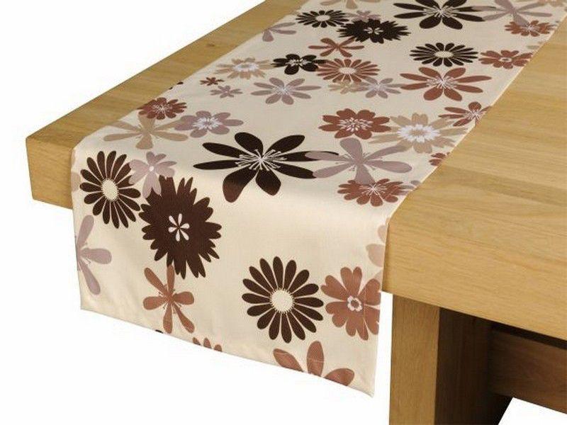 outdoor tischl ufer 42cm x 145cm braun beige capri gartentisch. Black Bedroom Furniture Sets. Home Design Ideas
