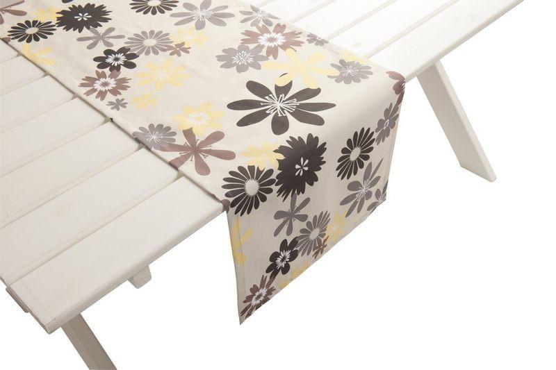 outdoor tischl ufer capri gartentisch 42cm x 145cm gelb grau. Black Bedroom Furniture Sets. Home Design Ideas