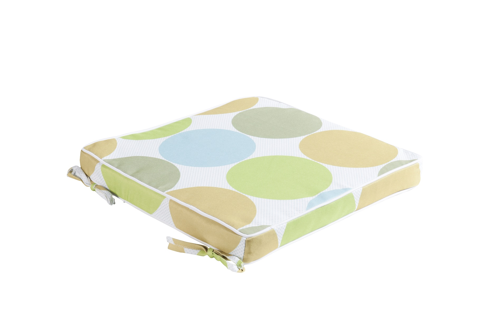 outdoor sitzkissen 40cm x 40cm nandine blau gr n polster stuhlauflage. Black Bedroom Furniture Sets. Home Design Ideas