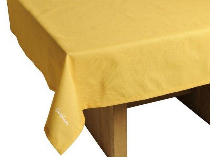 """Outdoor TISCHDECKE """"St. Tropez"""" 140cm x 240cm gelb Gartentisch Decke"""