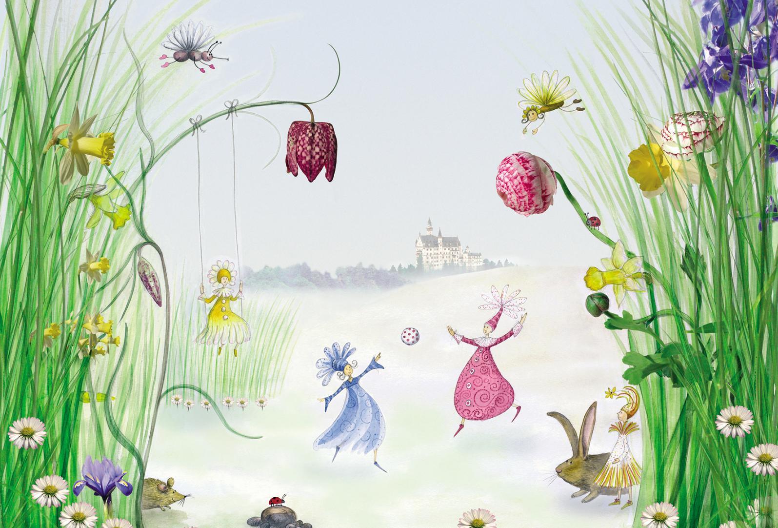 fototapete kinderzimmer-deko bild wand-tapete princess | ebay