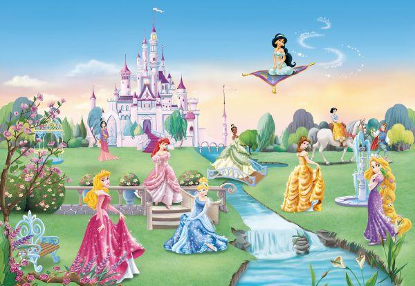 fototapete kinderzimmer kinder tapete princess castle disney