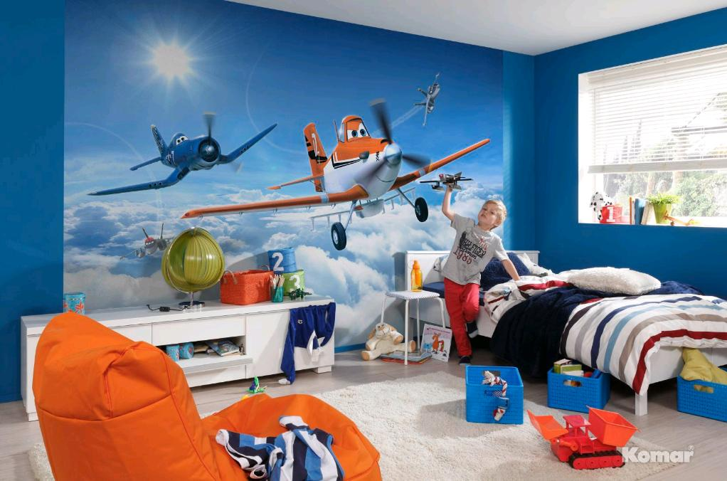Fototapete kinderzimmer tapete photomural planes above the clouds - Kinderzimmer fototapete ...