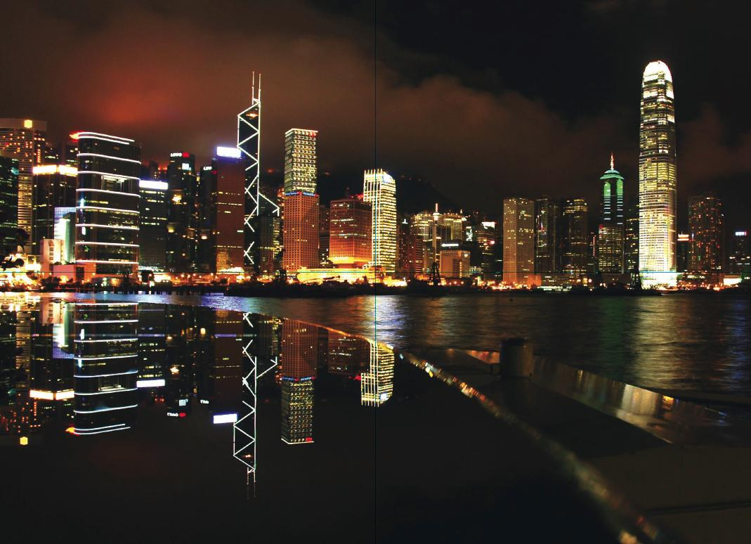 fototapete hong kong skyline photo tapete wallpaper bild. Black Bedroom Furniture Sets. Home Design Ideas