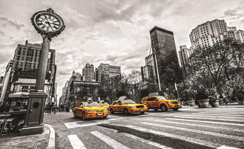 fototapete foto tapete digitaldruck bild new york taxi. Black Bedroom Furniture Sets. Home Design Ideas
