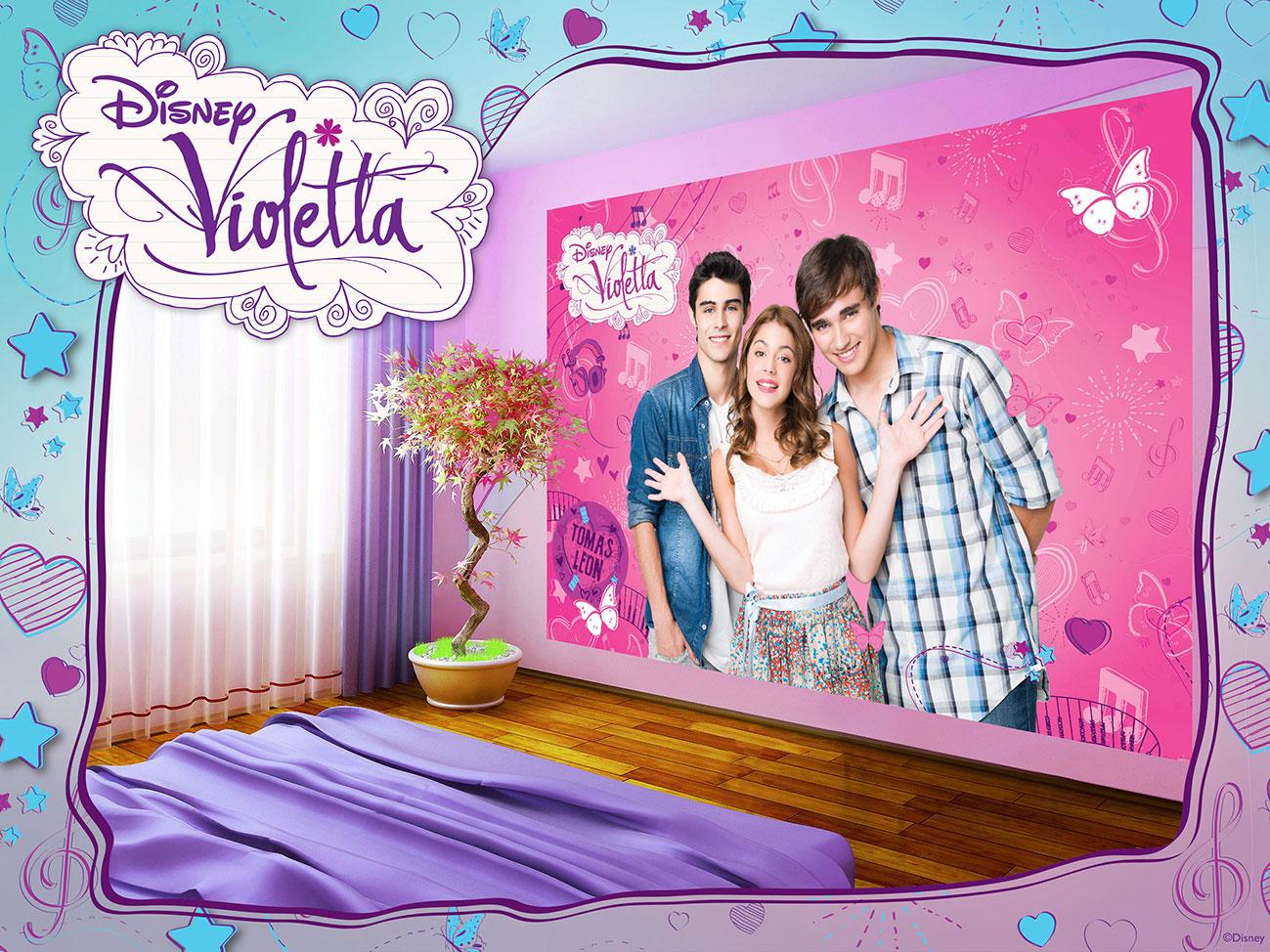 FOTOTAPETE Vlies Digitaldruk Photo-Tapete Kinderzimmer Violetta 467P4