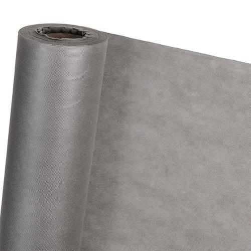 Dekovlies Dekostoff Tischdecke Tischband Tischdeko HaGa® grau 1,6m Br. Meterware