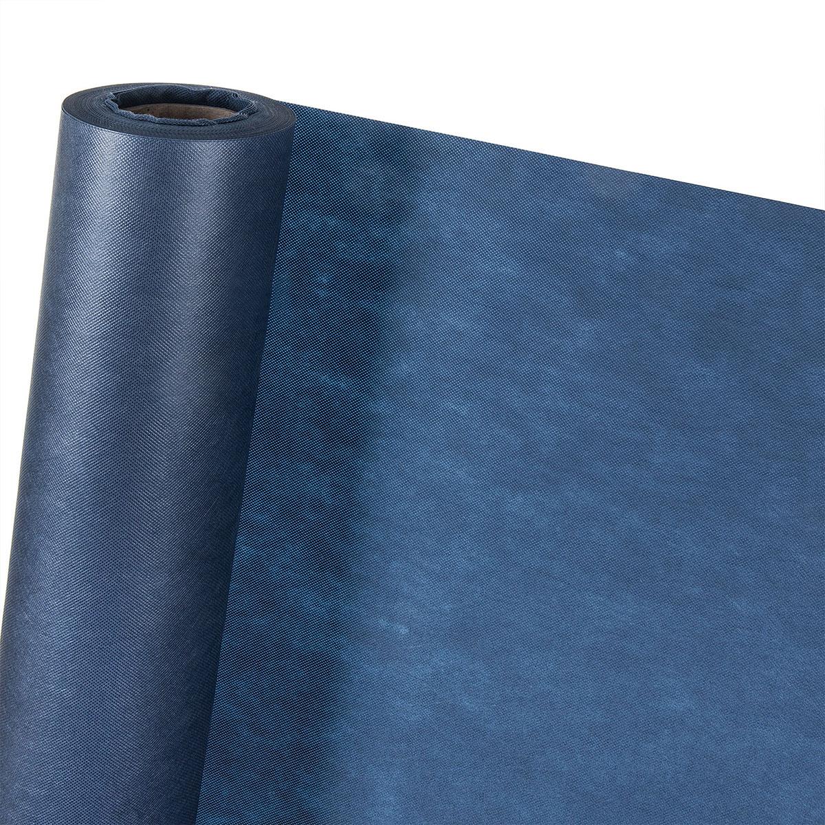 dekovlies in 1 6m breite dunkelblau meterware dekostoff tischdecke ebay. Black Bedroom Furniture Sets. Home Design Ideas