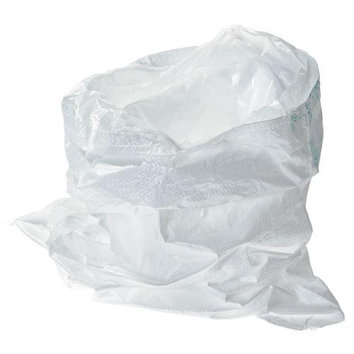 HaGa® Gewebesack 55 x 85cm mit Innenschutzfolie PP-Sack Getreidesack weiß