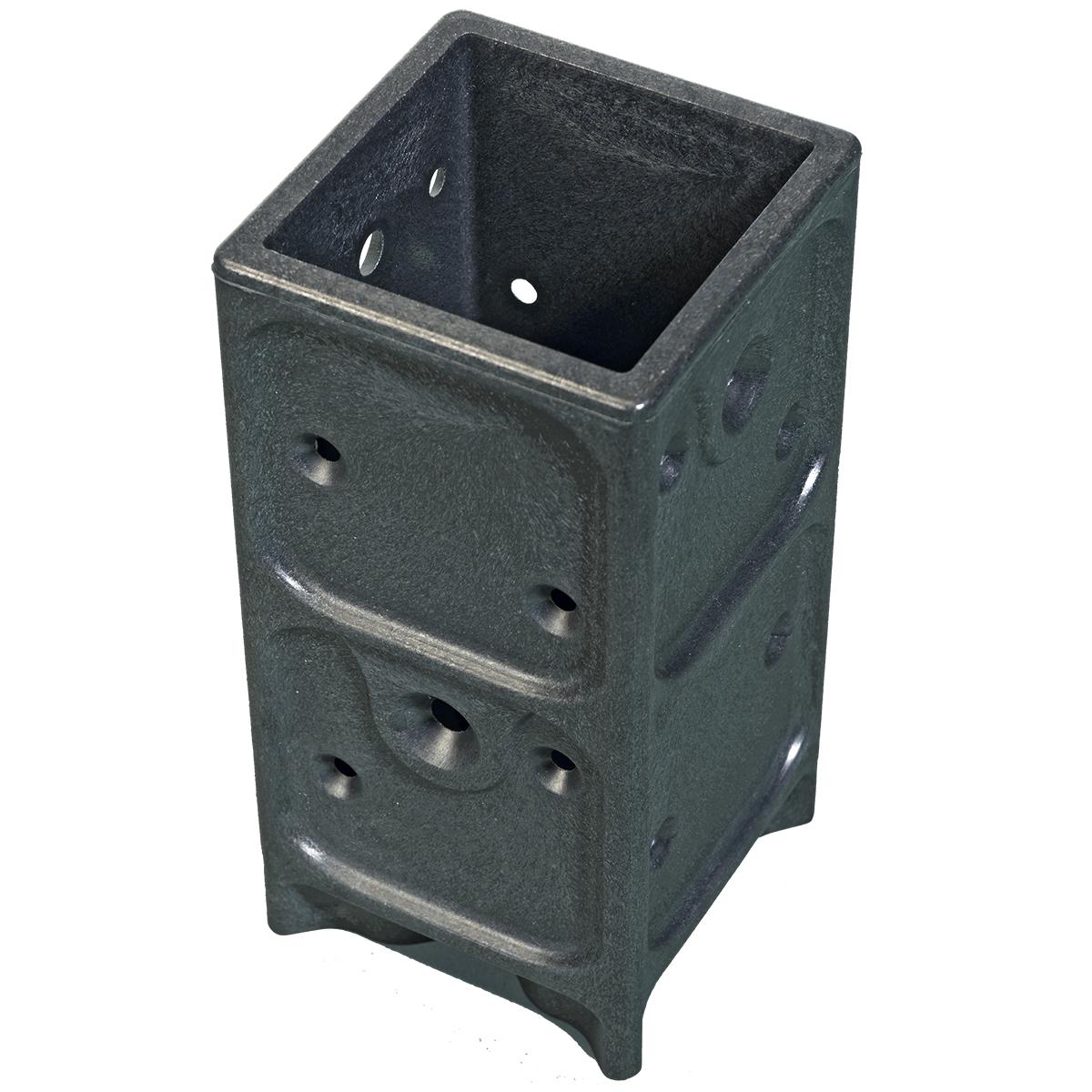 1 Stk Aufschraubhülse für Holzpfosten 7x7cm Pfostenanker Pfostenanker