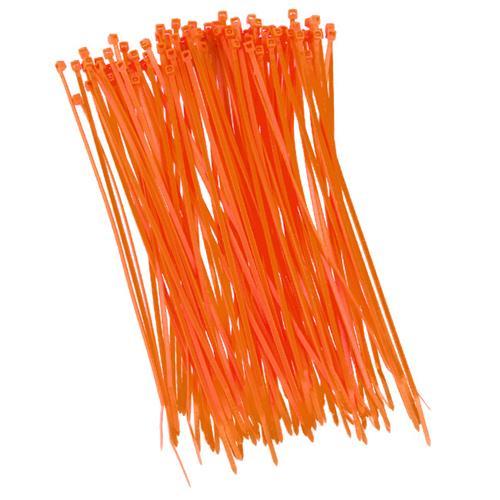 100 Stück Kabelbinder 200mmx2,5mm für Zaunblende Schattiernetz orange