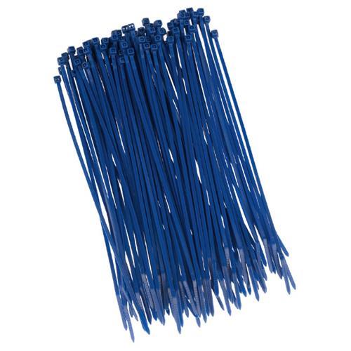 100 Stück Kabelbinder 200mmx2,5mm für Schattiernetz Zaunblende Zaun in blau