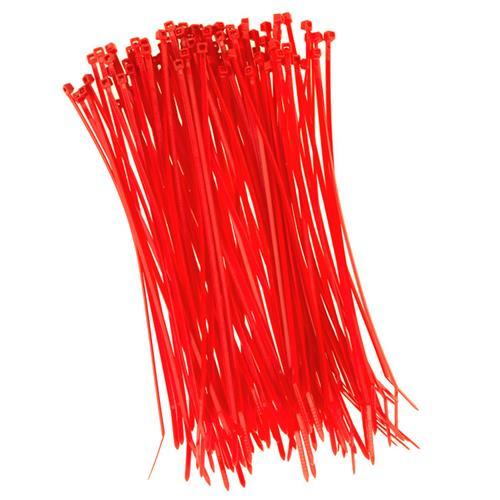 100 Stück Kabelbinder 200mmx2,5mm für Zaunblende Schattiernetz in rot