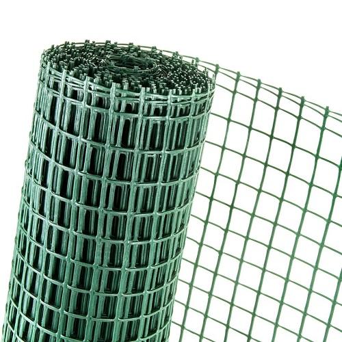KUNSTSTOFFZAUN 0,5m Höhe (Meterware) Masche 40mm Geflügel- Gänsezaun grün