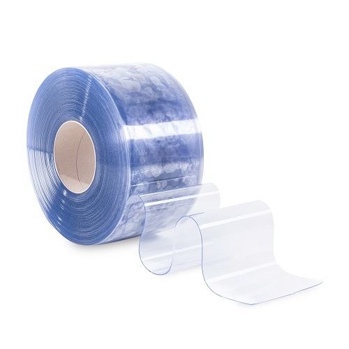 PVC Lamellenvorhang Streifenvorhang 20cm breit (Meterware) transparent