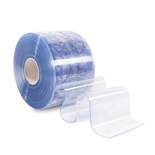 PVC-Lamellenvorhang 30cm breit (Meterware) Streifenvorhang transparent