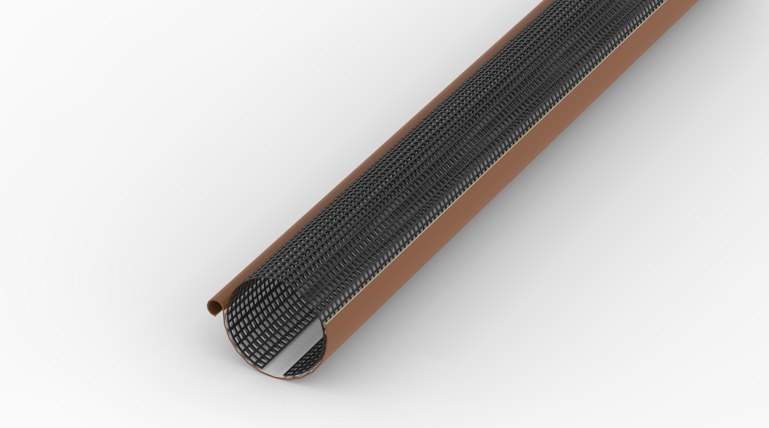 laubschutzgitter 2m lang f r dachrinnen 100mm 125mm laubstopp in schwarz ebay. Black Bedroom Furniture Sets. Home Design Ideas