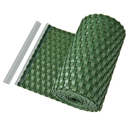 Sichtschutz Sichtschutzstreifen Zaunblende aus PE-Rattan in grün