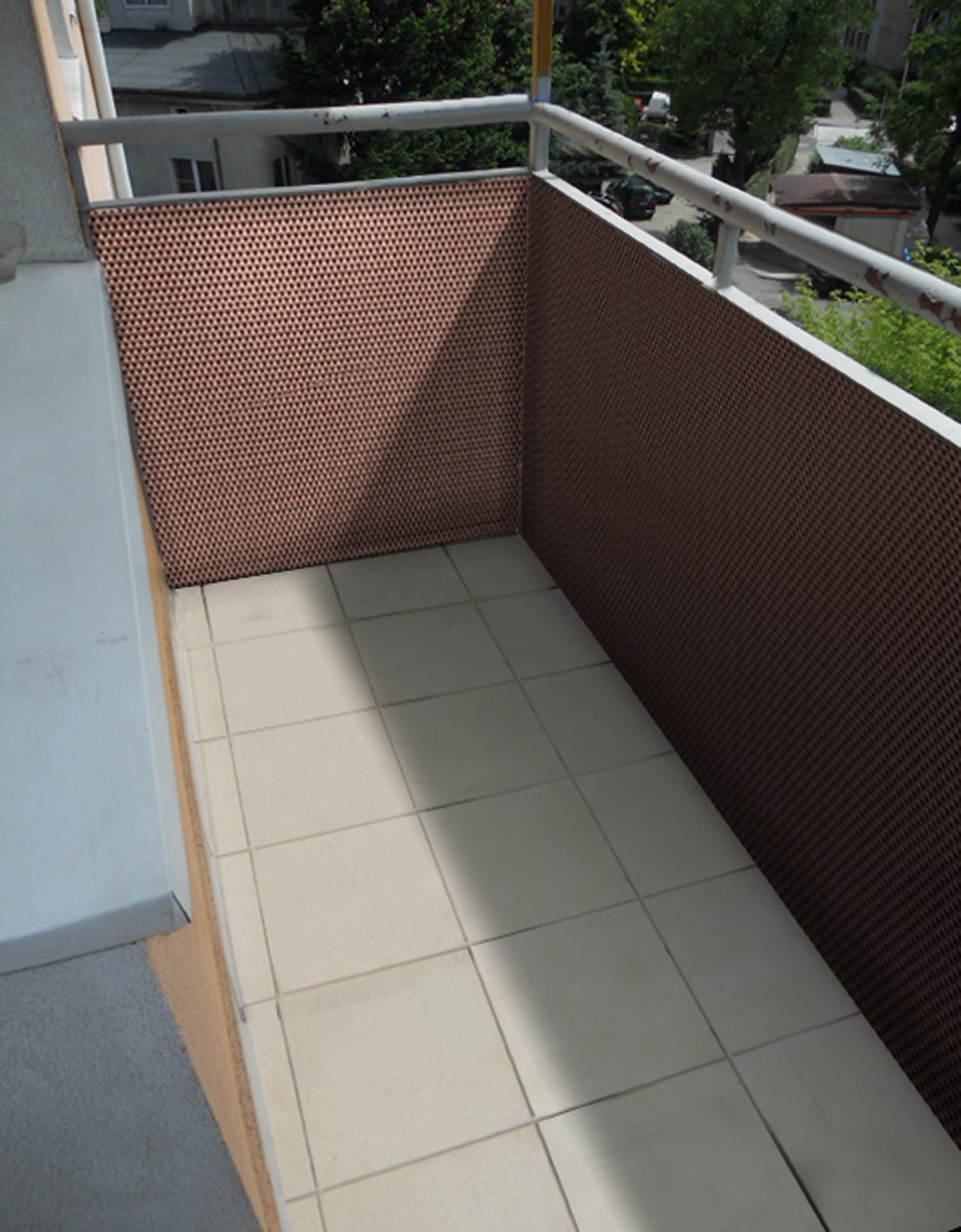 Balkonblende 0 9m Br Meterware Sichtschutz Aus Pe Rattan Hellbraun