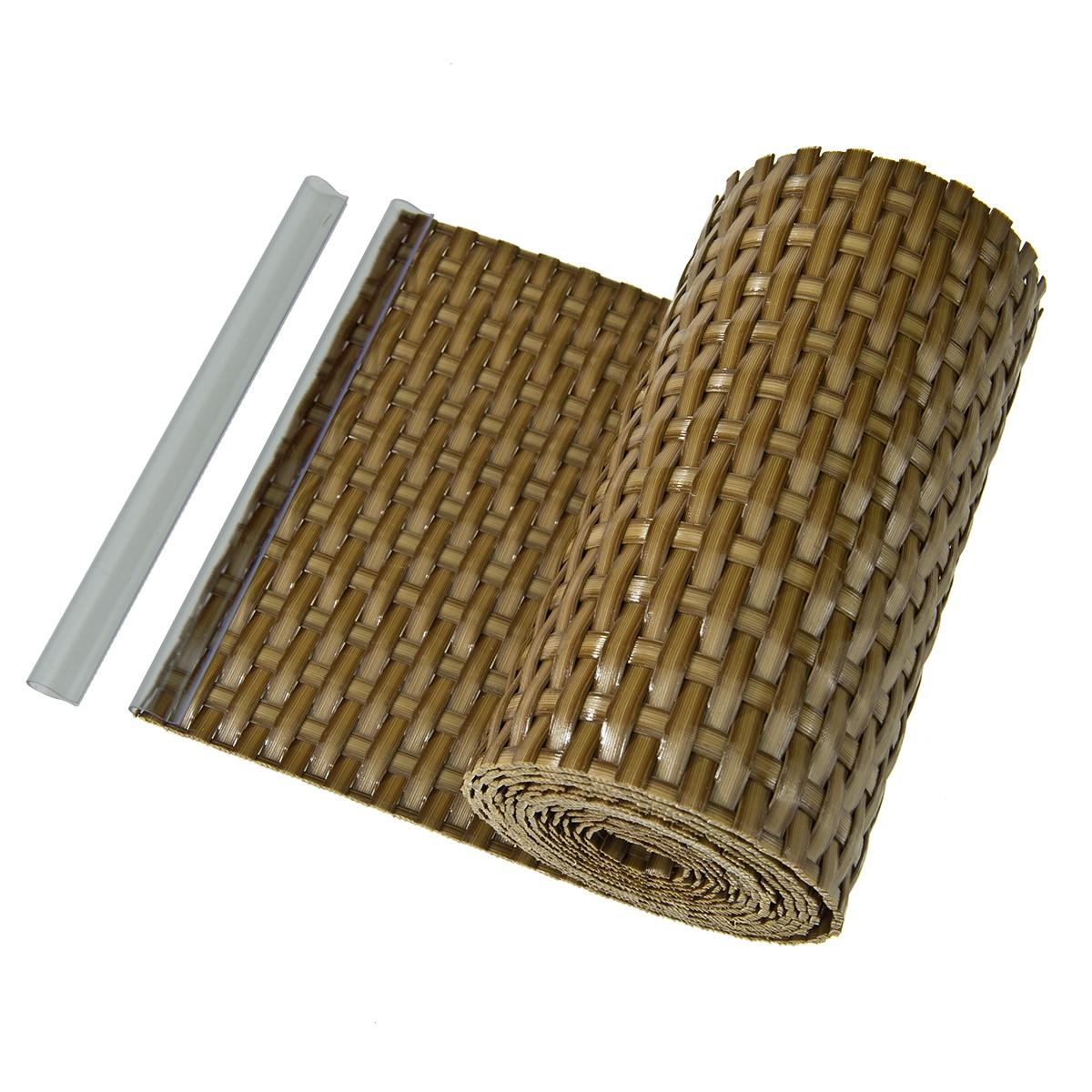 sichtschutz sichtschutzstreifen zaunblende aus pe rattan. Black Bedroom Furniture Sets. Home Design Ideas