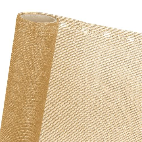 ZAUNBLENDE 85 % in 1,5m Breite (Meterware) Sichtblende Schattiernetz in beige