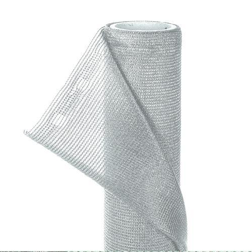 ZAUNBLENDE 85% 1,5m x 10m Wind- Sichtschutz Schattiernetz silbergrau