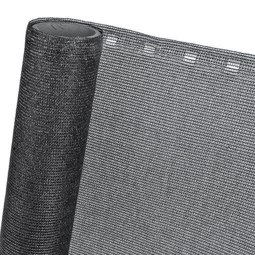 ZAUNBLENDE 85 % in 1,5m Breite (Meterware) Sichtblende Schattiernetz in schwarz