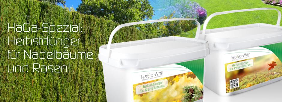 HaGa-Spezial: Herbstdünger für Nadelbäume und Rasen