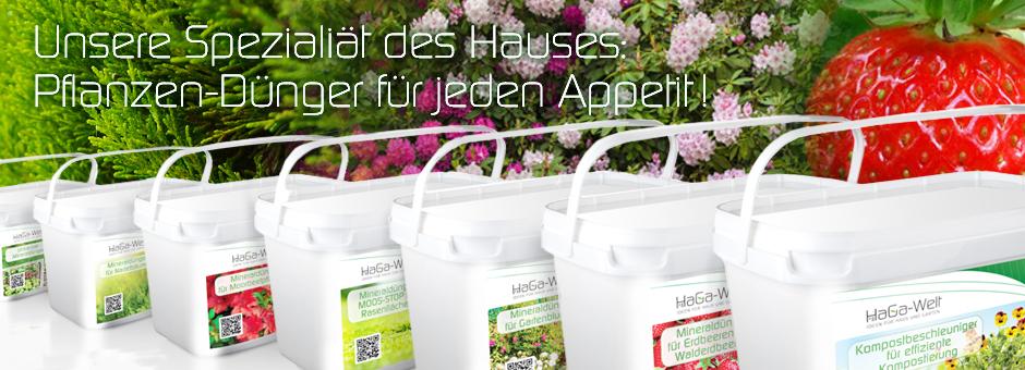Unsere Spezialität des Hauses: Pflanzen-Dünger für jeden Appetit!