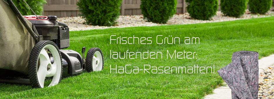 Frisches Grün am laufenden Meter: HaGa Rasenmatten