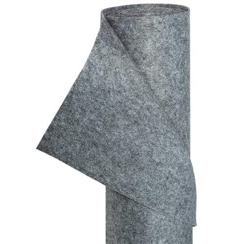 Filz Bastelfilz in 1,5m Br. (Meterware) Dekostoff Wollfilz in grau