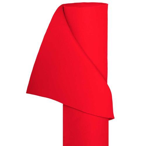 Filz Bastelfilz in 1,5m Br. (Meterware) Dekostoff Wollfilz in rot