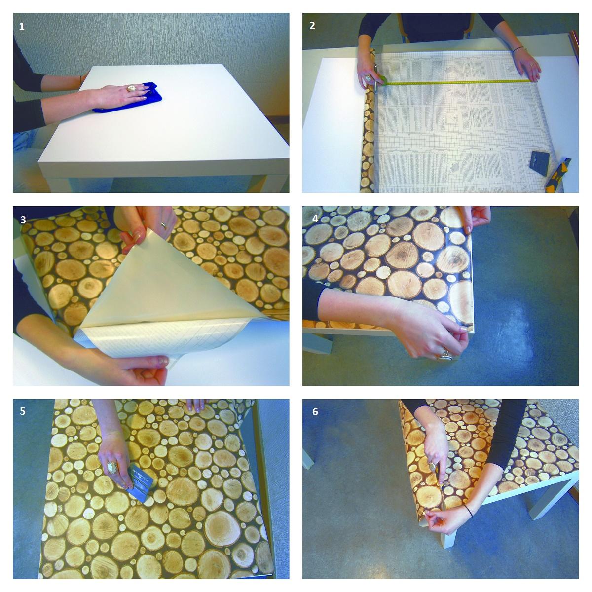 Klebefolie scrapwood in 45cm breite dekorfolie designfolie for Klebefolie dekorfolie