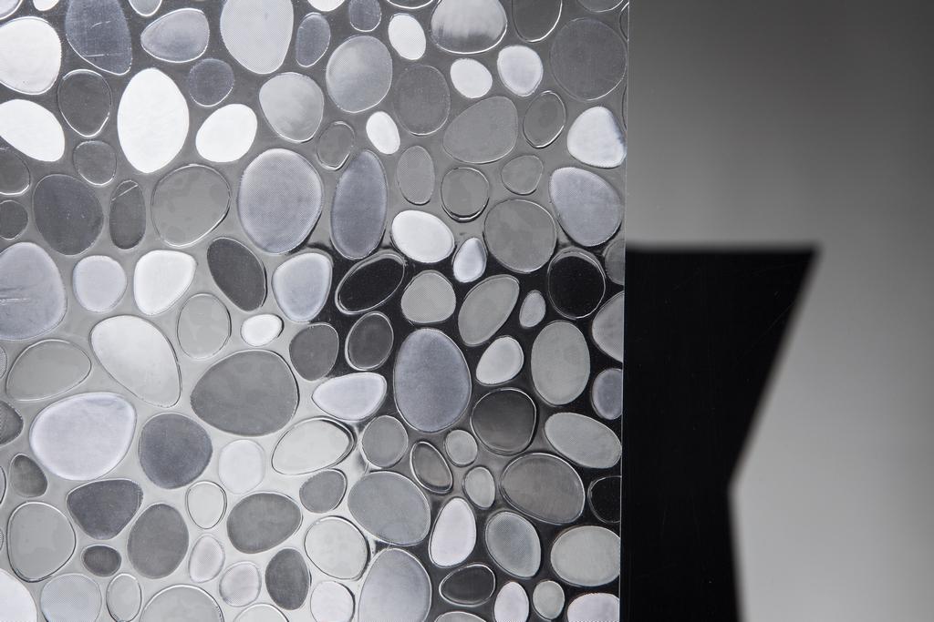 Statische Fensterfolie Stones in 45cm Breite Milchglasfolie (Meterware)
