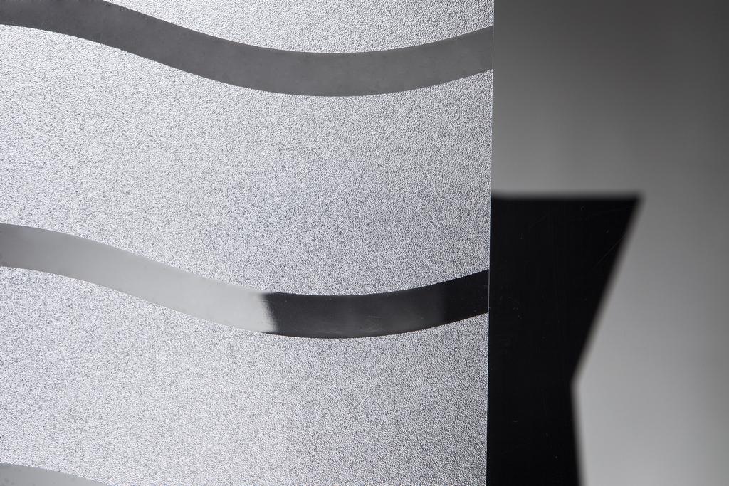 Statische Fensterfolie Wave in 90cm Breite Milchglasfolie (Meterware)