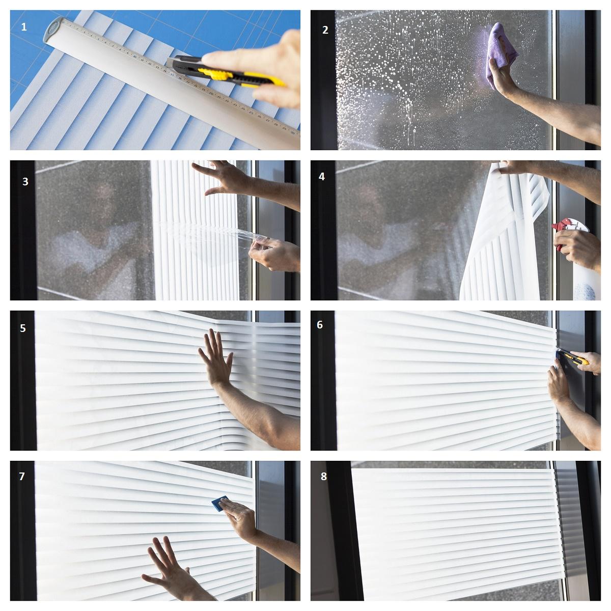 Statische Fensterfolie Frost Bright in 45cm Breite Milchglasfolie