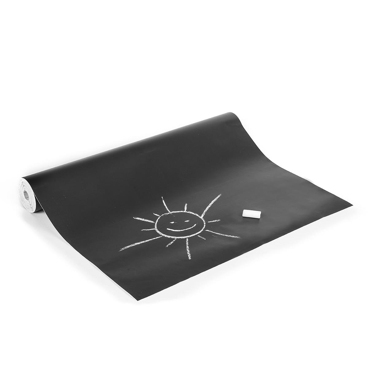 tafelfolie schwarz f r kreide in 45cm breite selbstklebend meterware. Black Bedroom Furniture Sets. Home Design Ideas
