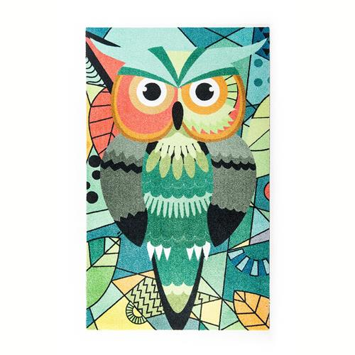 """Teppich """"Abstract Owl"""" 70cm x 120cm Fußmatte Teppichläufer Bodenbelag"""