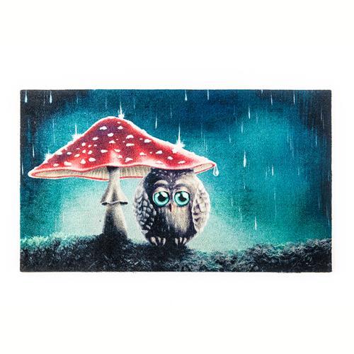 """Teppich """"Little Owl"""" 70cm x 120cm Fußmatte Teppichläufer Bodenbelag"""
