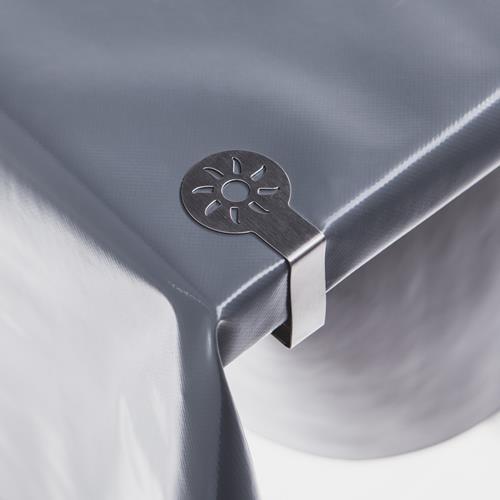 4 Stück Tischdeckenklammern Flower aus rostfreiem Stahl Tischdeckenhalter