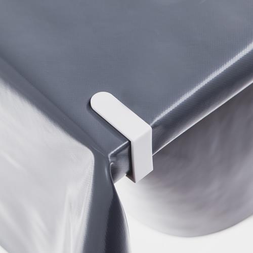 4 Stück Tischdeckenklammern White Tischtuchklammern Tischdeckenbefestigung
